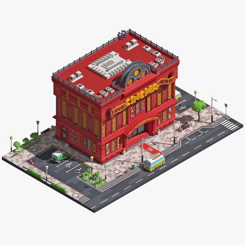 3D building movie theater