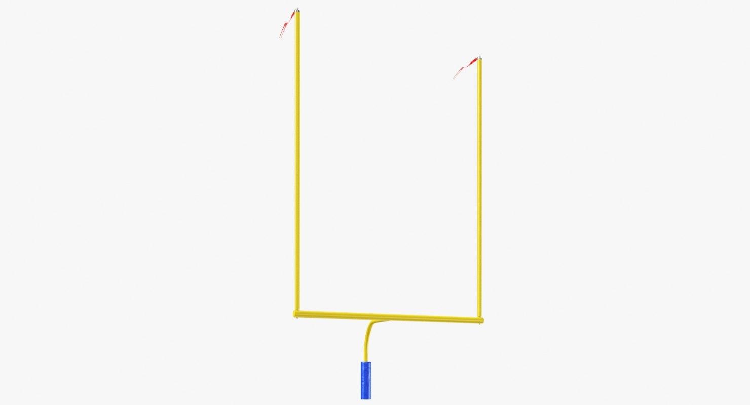 american football posts 3D model