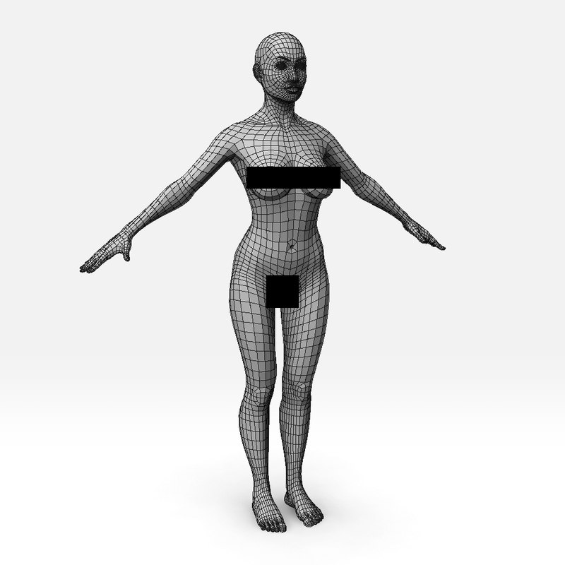 female basemesh model