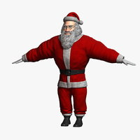 3D cartoon santa claus 2 model