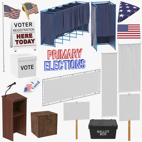 3D elections sign banner