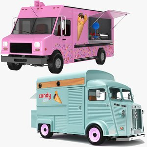 3D model food trucks candy