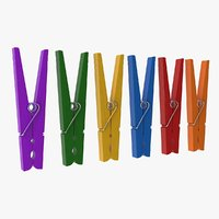 colorful clothespin 3D model