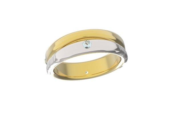 3D wedding ring model