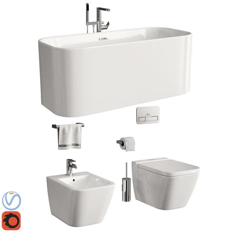 bathroom toilet villeroy boch 3D model