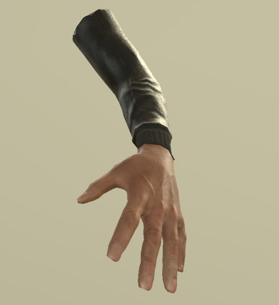 3D arm hand finger model