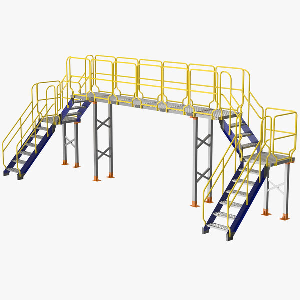 industrial bridge 3D model