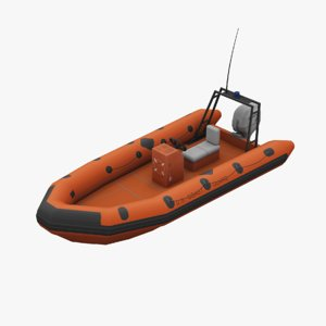 coast guard boat 3D
