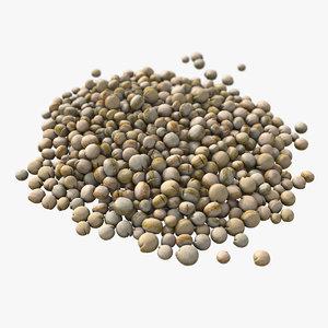 pile puffed quinoa cereals model