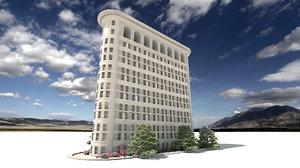 3D building flatiron model
