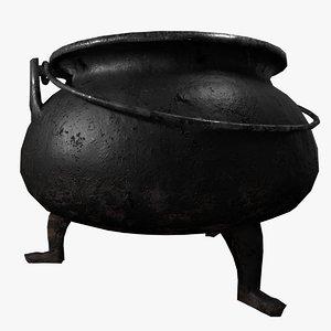 3D iron cauldron model