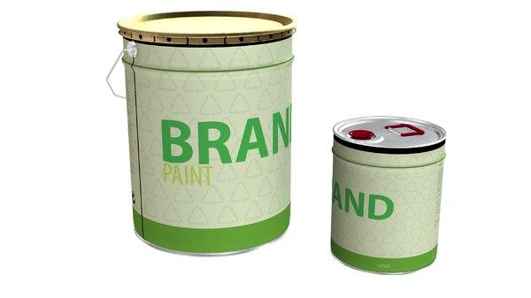 3D model paint cans