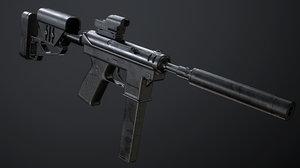 3D pistol pbr