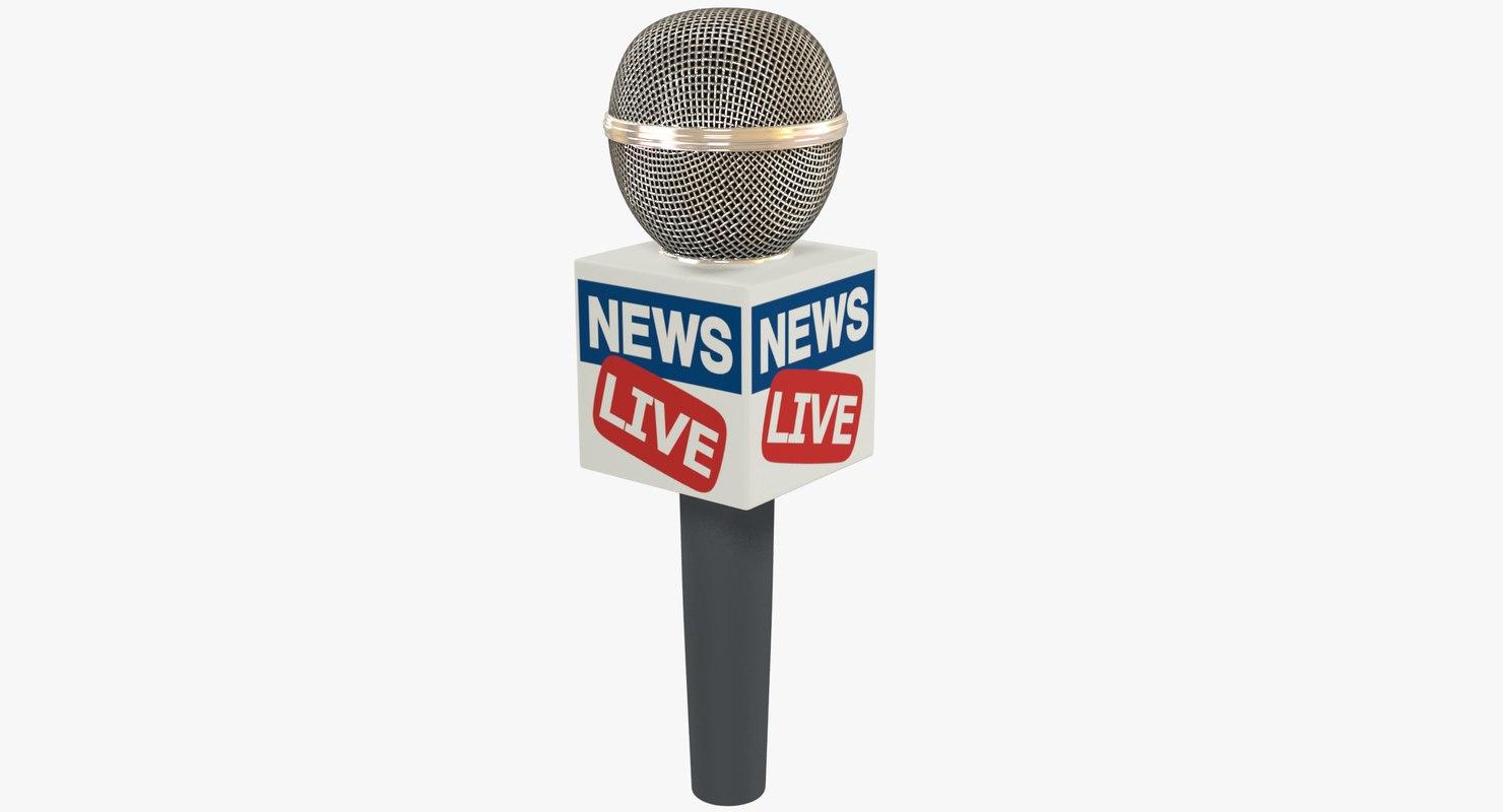 microphone modelled 3D model