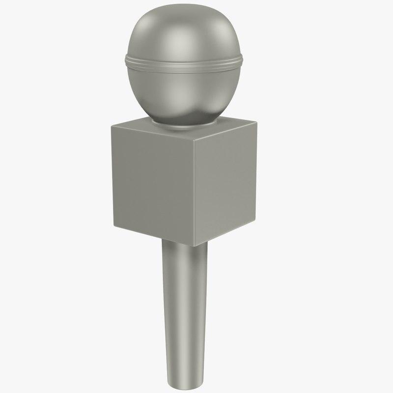 3D model microphone modelled