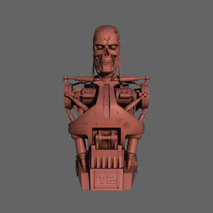 terminator t-800 torso bust model