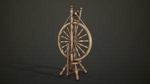 spinning wheel pbr 3D model