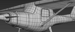 plane cartoon 3D model