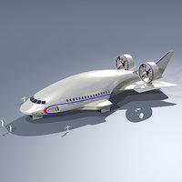 3D model airship shuttle