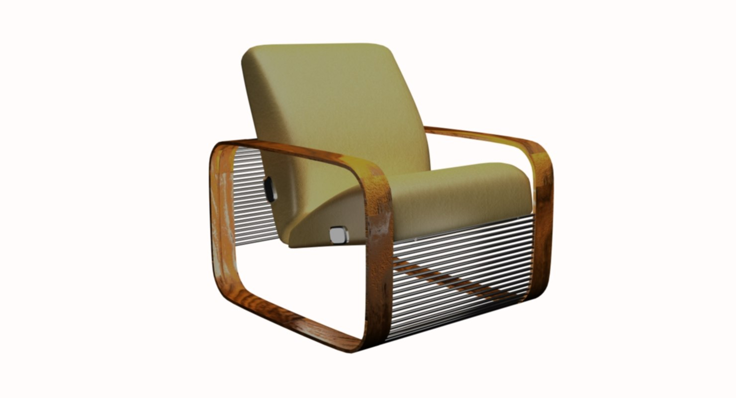 original seat rounded square 3D