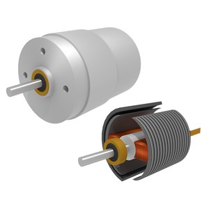 simple electric dc motor 3D
