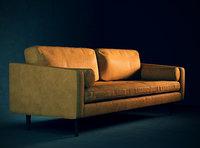 3D mid-century modern sofa