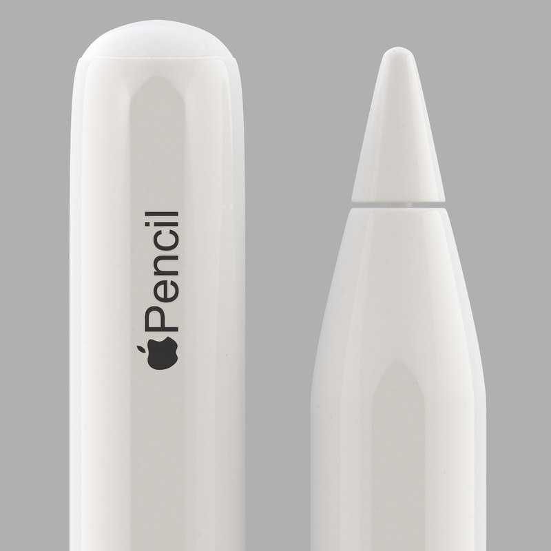 apple pencil 2 3D model