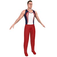 gymnast athletics people 3D model