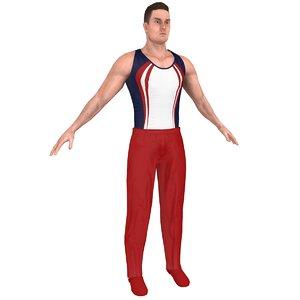 gymnast athletics people 3D model