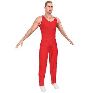 3D model gymnast athletics people