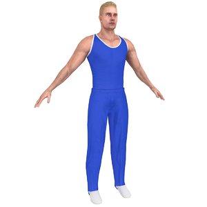 3D gymnast athletics people