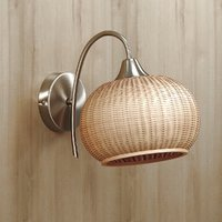 Rattan wall lighting