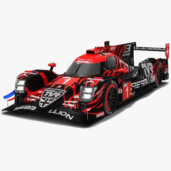 3D model rebellion racing r13 lmp1