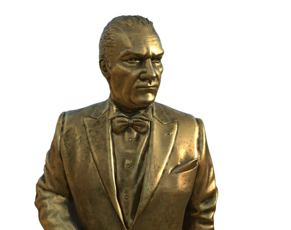 fullbody ataturk sculpt 3D