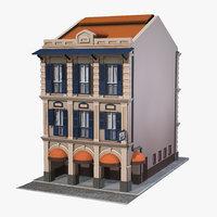 3D residential building apartment model
