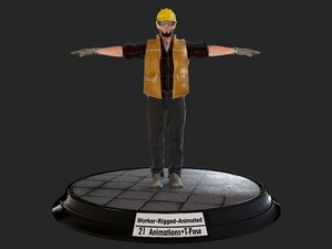 worker1 animations pack model