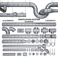 3D model ventilation