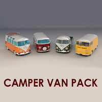 Low-Poly Cartoon Camper Pack