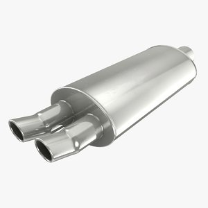 exhaust pipe 01 3D model