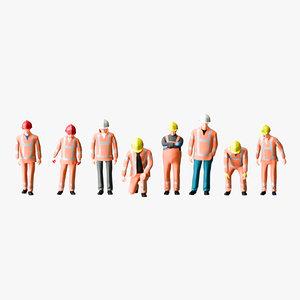 3D worker 04 operator model