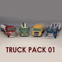 truck cartoon model