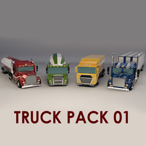 truck cartoon model