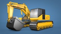 crawler excavator loader 3D model