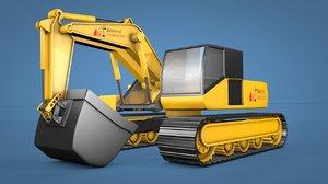 crawler excavator loader 3D model