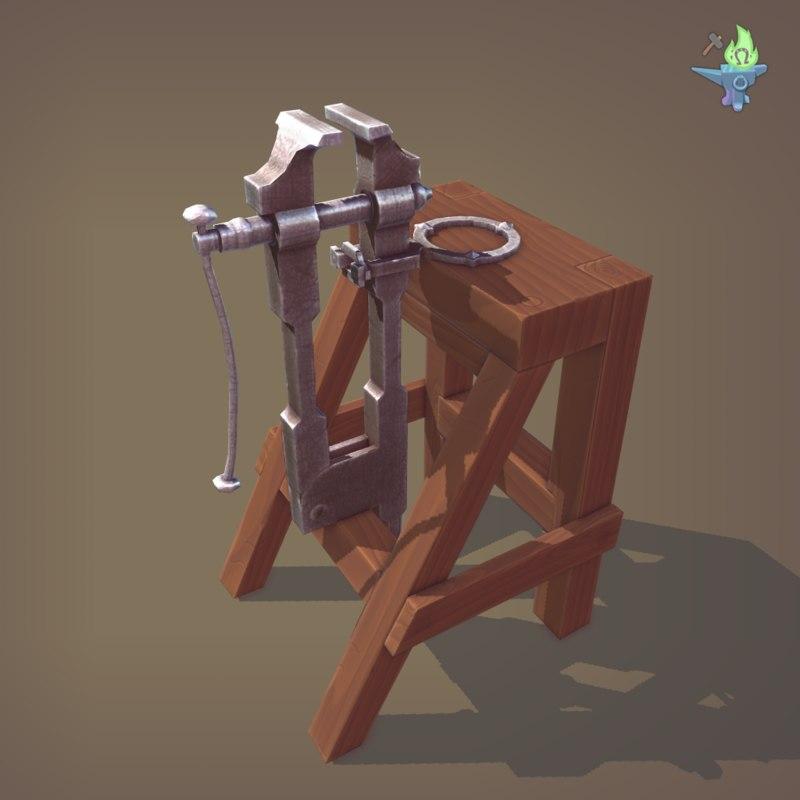 medieval blacksmith model