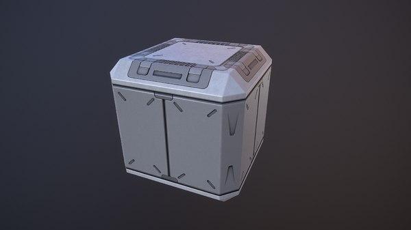 3D sci-fi pbr box model