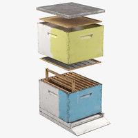 mediterranean beehive apiary 3D