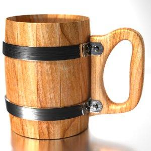 wooden beer mug 3D