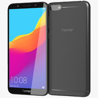 realistic honor 7s black 3D model