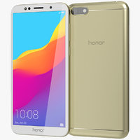 3D realistic honor 7s gold
